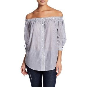 14th & Union Striped Off the Shoulder Blouse